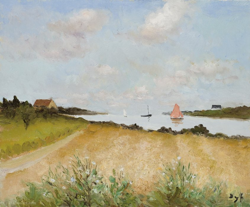 Wheat at Crouesty, (1972) by Marcel Dyf (1899-1985, France)