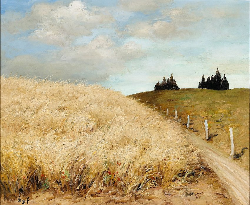 Wheat field by Marcel Dyf (1899-1985, France)