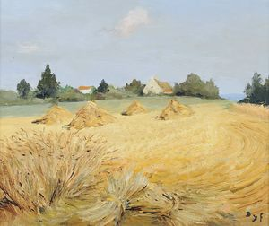 Marcel Dyf - Wheat stacks