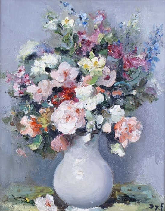 Wild Flowers in a Vase by Marcel Dyf (1899-1985, France)
