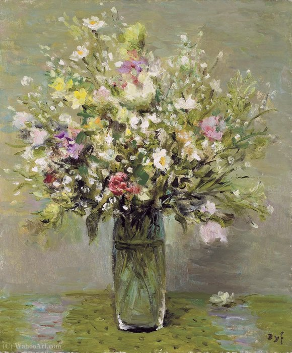 Wild flowers, (1976) by Marcel Dyf (1899-1985, France) | Art Reproduction | ArtsDot.com