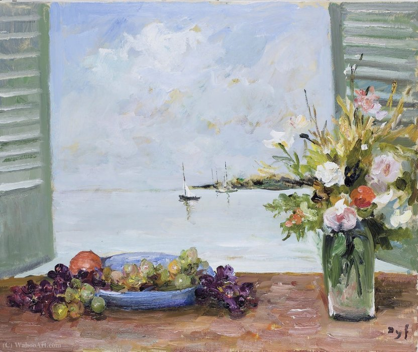 Window over the Sea, (1979) by Marcel Dyf (1899-1985, France)