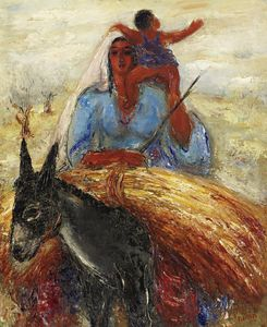 Reuven Rubin - Bringing in the Wheat, (1..