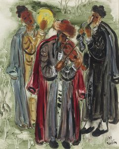 Reuven Rubin - Musicians of Safed, (1960..