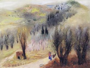 Reuven Rubin - Road to Safed