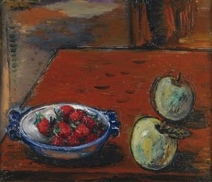 Reuven Rubin - Still Life with Apples an..
