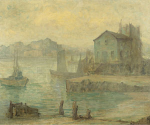 Maurice Braun - Boats in a Harbor