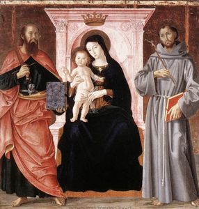 Antoniazzo Romano - Madonna Enthroned with the Infant Christ and Saints