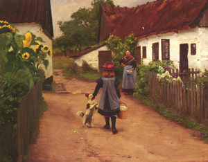 Hans Andersen Brendekilde - Visiting grandmother