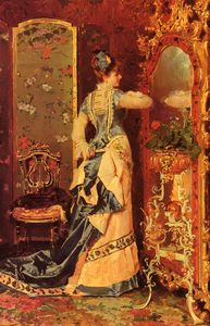 Luis Alvarez Catala - Woman before a mirror