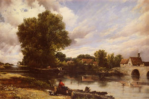 Frederick Waters (William) Watts - Along the river