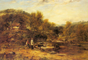 Frederick Waters (William) Watts - Anglers by a Stream