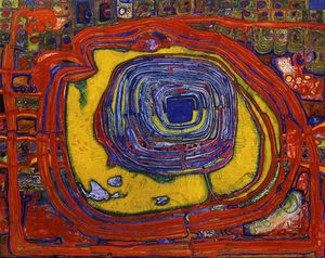 Friedensreich Hundertwasser - The Tower of Babel Pierces the..