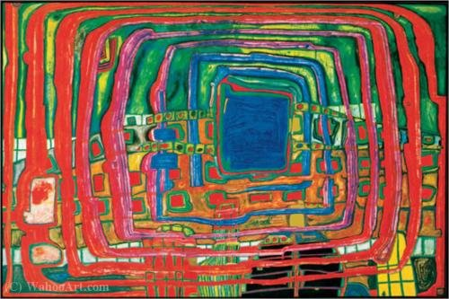 The i still do not know by Friedensreich Hundertwasser (1928-2000, Austria)