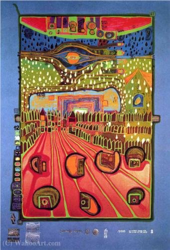 A Street for Survivors by Friedensreich Hundertwasser (1928-2000, Austria)