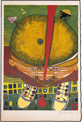 The Boy with the Green Hair by Friedensreich Hundertwasser