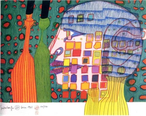 Shadow of the Stars by Friedensreich Hundertwasser
