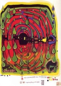 Friedensreich Hundertwasser - A Sad Not so Sad Is Rainshine ..