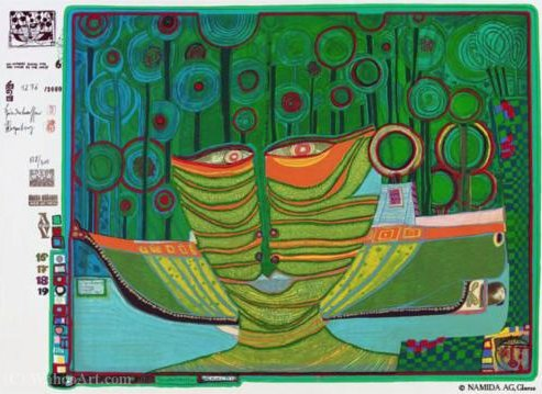 A Columbus Rainy Day in India by Friedensreich Hundertwasser (1928-2000, Austria) | Painting Copy | ArtsDot.com