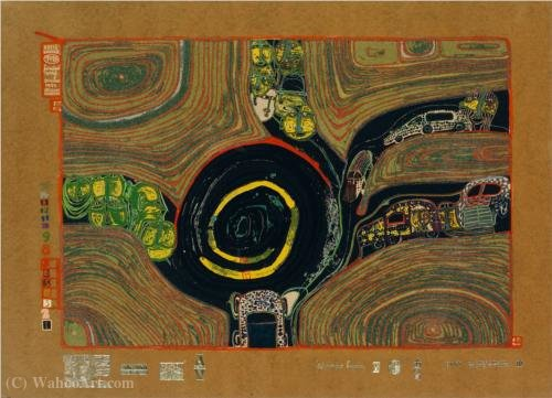 A Crusade of the Crossroaders by Friedensreich Hundertwasser