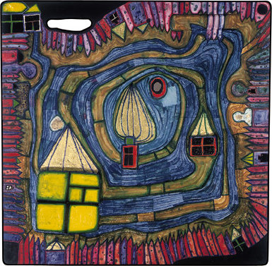 End of the Waters by Friedensreich Hundertwasser (1928-2000, Austria)