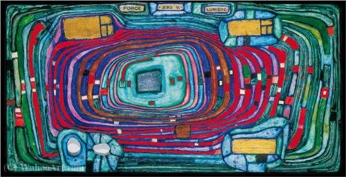 Switch board by Friedensreich Hundertwasser (1928-2000, Austria) | ArtsDot.com