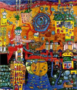 Friedensreich Hundertwasser - The 30 days fax painting