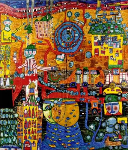 The 30 days fax painting by Friedensreich Hundertwasser