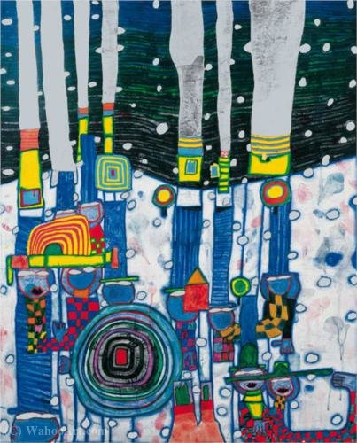 Bslue blues by Friedensreich Hundertwasser (1928-2000, Austria)