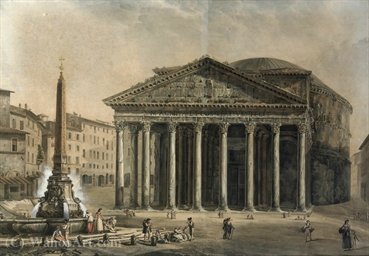 The pantheon, rome by Abraham-Louis-Rodolphe Ducros (1748-1810, Switzerland) | Museum Art Reproductions | ArtsDot.com