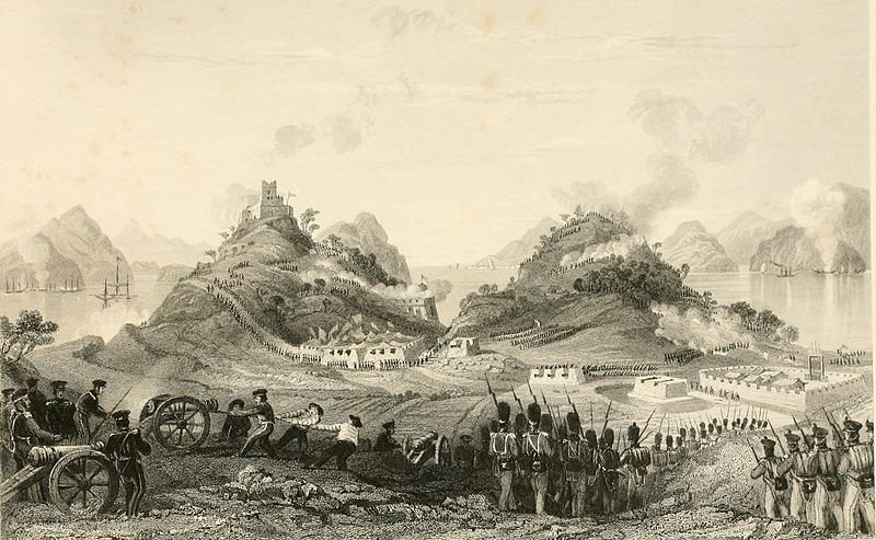 Attack and Capture of Chuenpee, near Canton by Thomas Allom