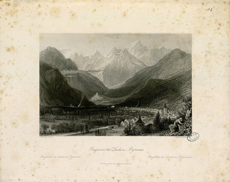 Bagneres de Luchon by Thomas Allom (1804-1872, United Kingdom)
