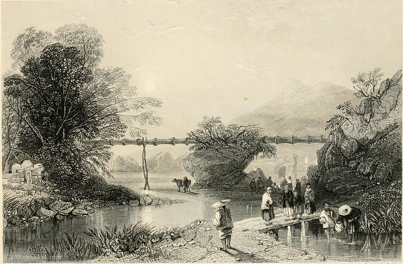 Bamboo Aqueduct at Hong Kong by Thomas Allom (1804-1872, United Kingdom)
