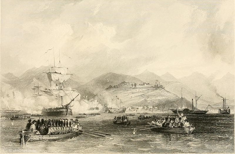 Capture of Ting-hai by Thomas Allom (1804-1872, United Kingdom)
