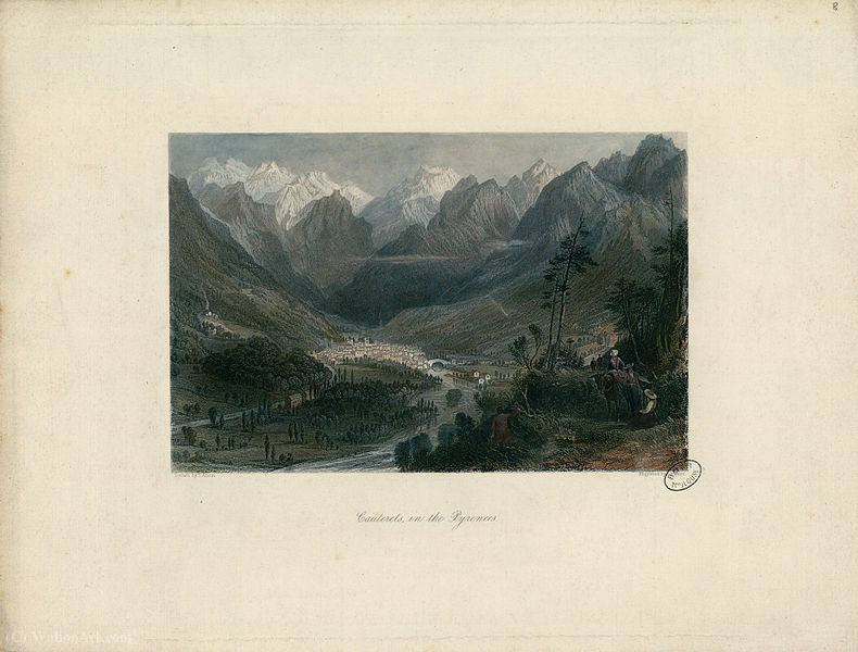 Cauterets, in the Pyrenees by Thomas Allom (1804-1872, United Kingdom)