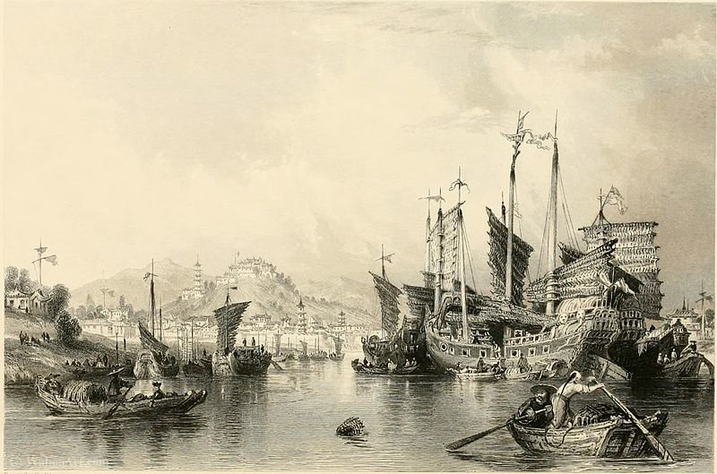 City of Ningpo from the river by Thomas Allom (1804-1872, United Kingdom)