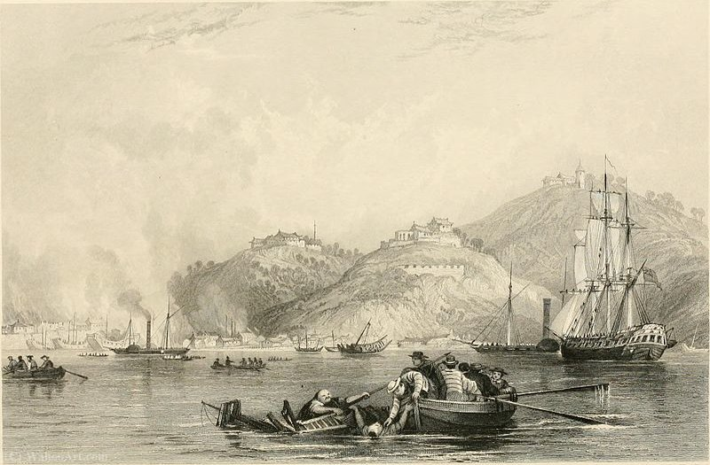 Close of the attack on Chapoo by Thomas Allom