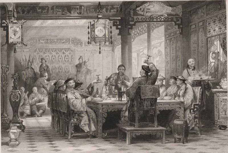 Dinner Party at a Mandarin's House by Thomas Allom