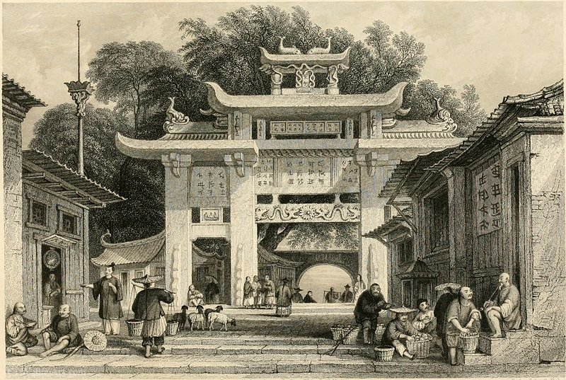 Entrance to Amoy by Thomas Allom