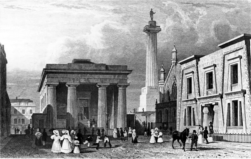 John foulston's town hall by Thomas Allom