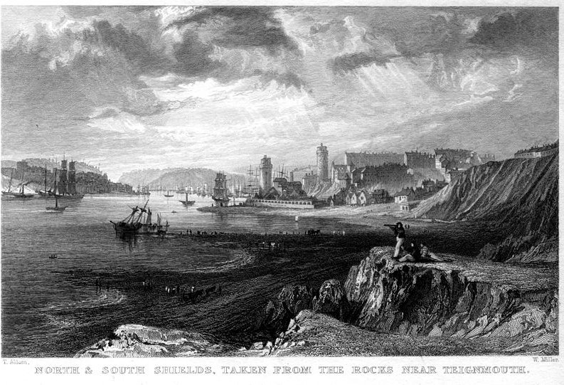 North and South Shields engraving by Thomas Allom