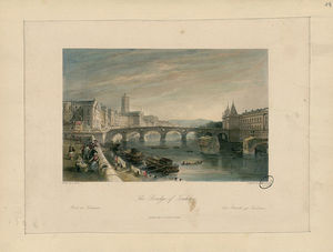Thomas Allom - The Bridge of Toulouse - Pont ..