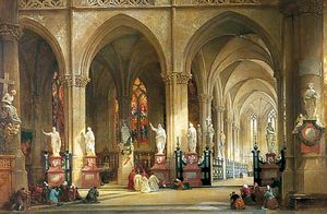 Thomas Allom - The Church of St Jacques, Antw..