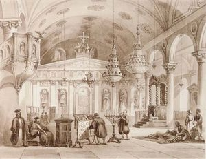 Thomas Allom - The greek church of baloukli n..