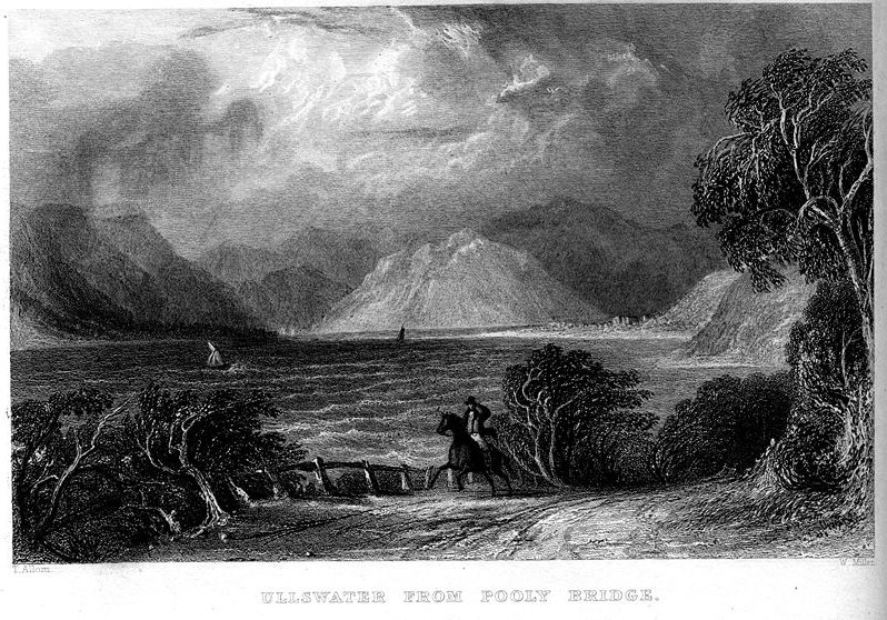 Ullswater from Pooly Bridge engraving by Thomas Allom