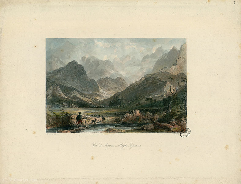 Val d'Azun, High Pyrenees - Fonds Ancely by Thomas Allom