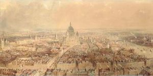 Thomas Allom - View of london from the steepl..