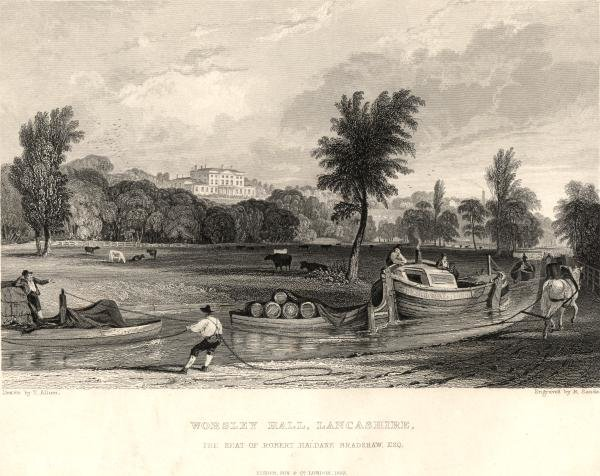 Worsley hall lancashire by Thomas Allom