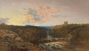 Edward H. Niemann - Richmond castle on the ri..
