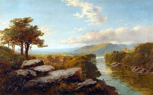 Edward H. Niemann - River landscape, thought ..